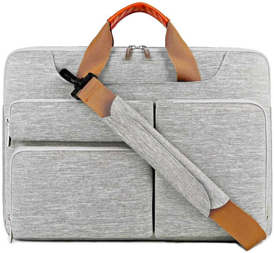 Lacdo Grey Wolf Laptop Bag (15.6 Inch)