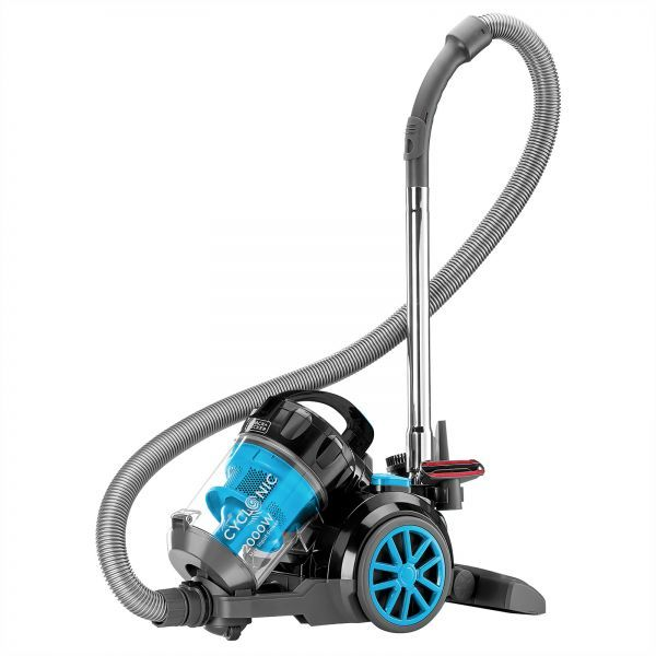 BLACK N DECKER Bagless Cyclonic Canister Vacuum Cleaner With 6 Stage Filtration, Multi Color VM2080