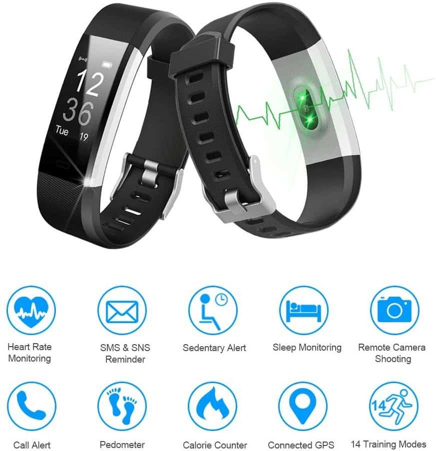 LETSCOM Smart Fitness Tracker Band