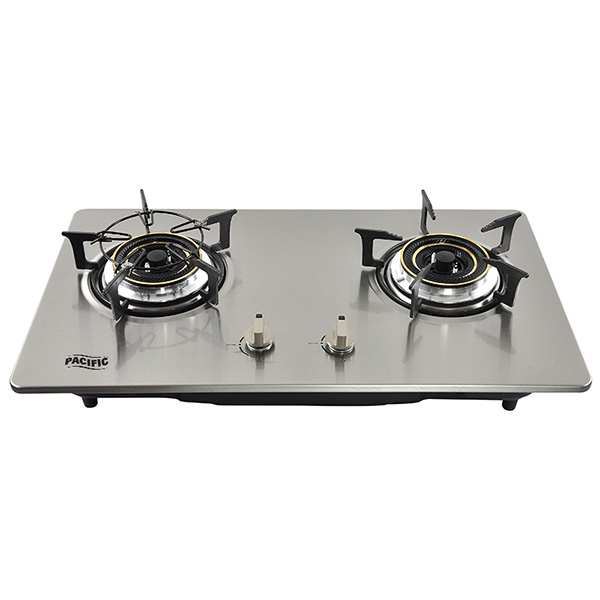 PACIFIC Double Gas Stove Stainless Steel ECO-XC
