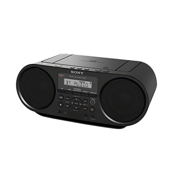 SONY CD Boombox with Bluetooth and USB ZS-RS60BT