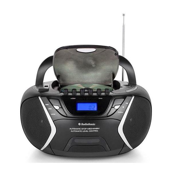 AUDIOSONIC - Stereo CD, MP3, FM Radio, Cassette Deck