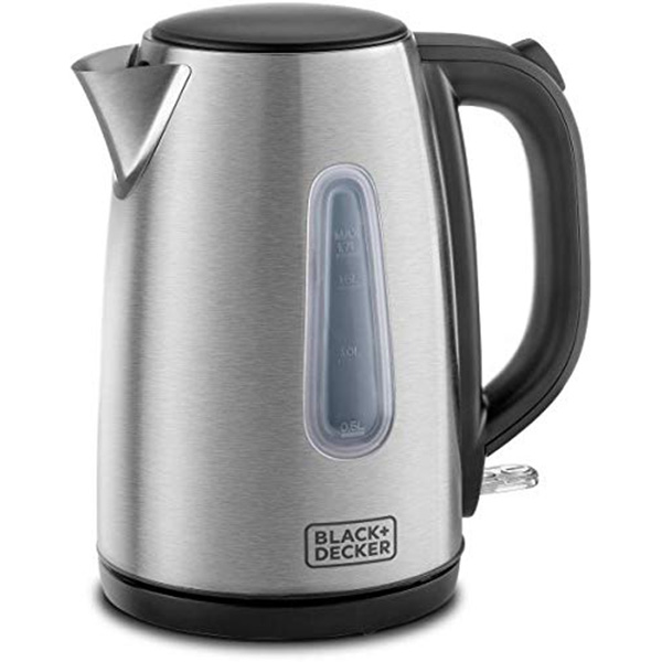 BLACK N DECKER Concealed Coil Stainless Steel Kettle 1.7L JC450