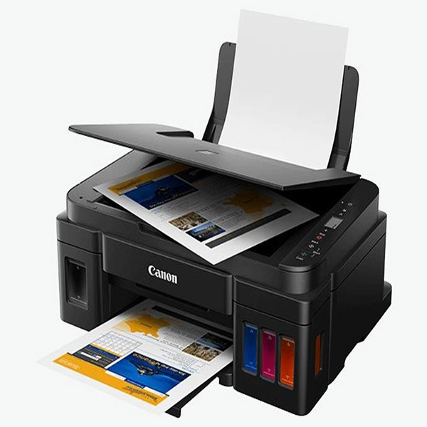 CANON Colour Inkjet Printer - Cont. Ink Supply - Print, Copy & Scan - PIXMA G2411