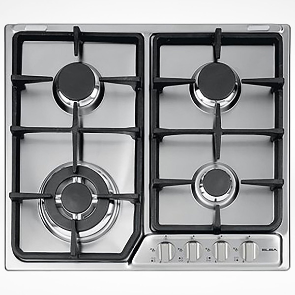 ELBA Gas Hob Stainless Steel 60 cm Flame Safe EF65-445X