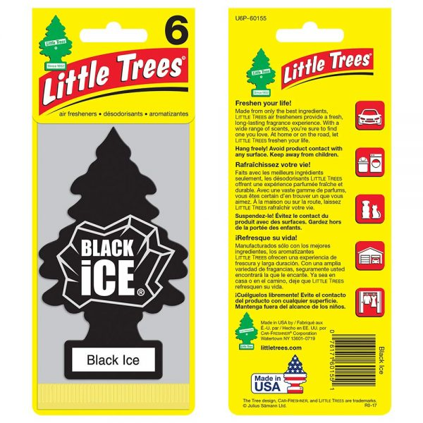 Little Trees - Black Ice (Pack of 6)