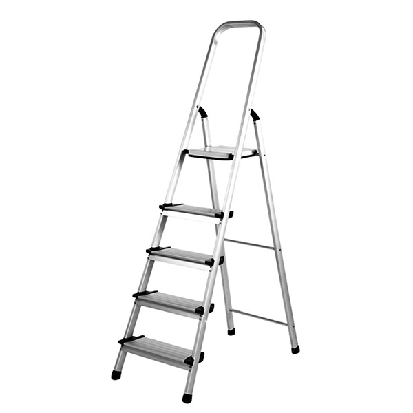SILOY 5 Steps Stable Ladder (Aluminium Body)
