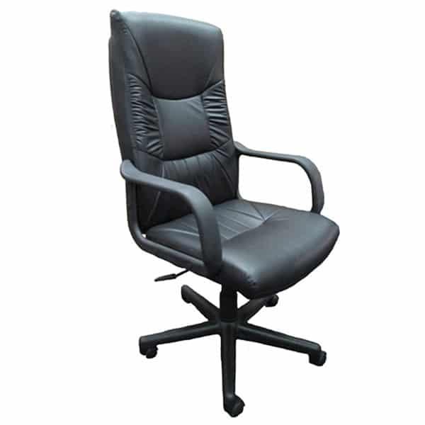 SILOY Furniture - Office Comfort Black Pivot Chair - EX122GATL