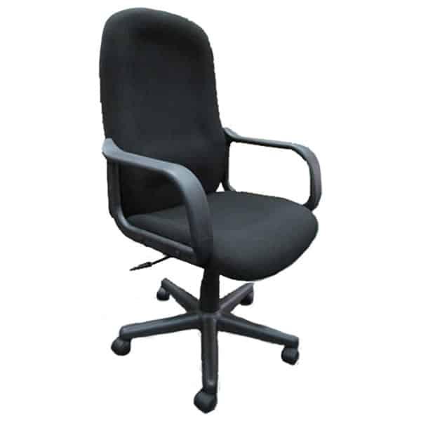 SILOY Furniture - Office Comfort Black Pivot Chair - MG102GATL