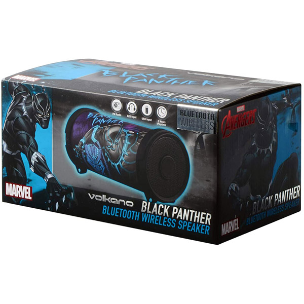 VOLKANO Bluetooth Speaker - Marvel Series BLACK PANTHER - MV-1003-BP1
