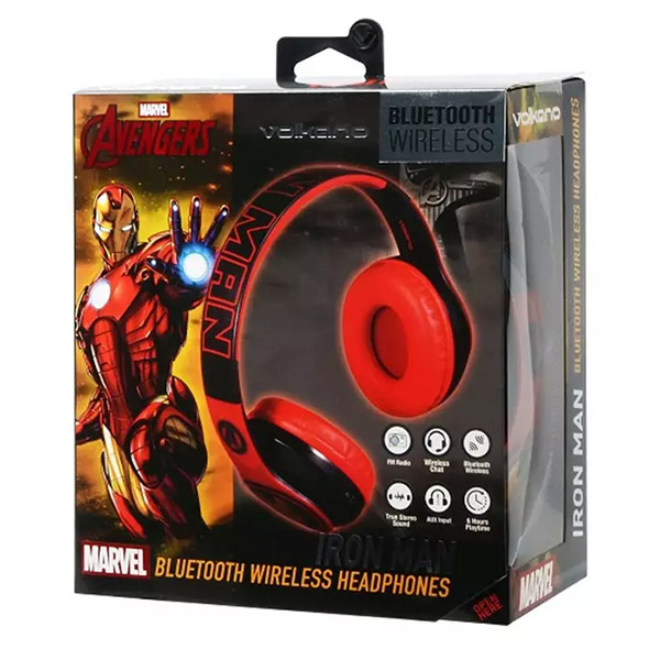 VOLKANO Headset - Marvel Adult Series IRON MAN Headphone - MV-1007-IM